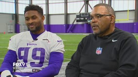 Dawn Mitchell sits down with Vikings' Danielle Hunter and Defensive Line Coach Andre Patterson