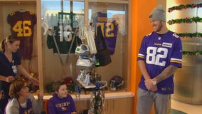 Girl waiting for heart transplant serves as inspiration for Vikings' Kyle Rudolph