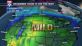 December thaw is on the way