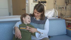 M Health Fairview University of Minnesota Masonic Children's Hospital doctor treats mother and son with same condition