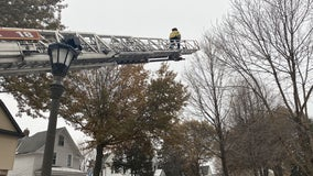 St. Paul firefighters rescue child's new drone stuck in tree on Christmas