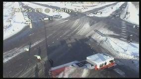 Jeep driver killed in crash involving semi in Plymouth, Minnesota