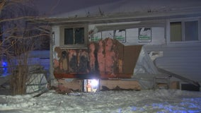 Snow plow driver spots house fire, cares for victim in Crystal, Minnesota