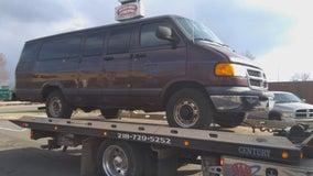 Stolen north Minneapolis church van found trashed, damaged