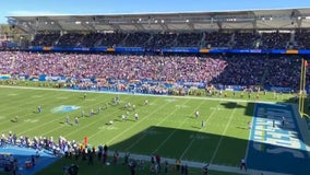 Huge crowd of Vikings fans invade Chargers' stadium for Sunday's matchup