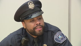 From homeless to class speaker, one of Detroit's newest officers has a remarkable story to tell
