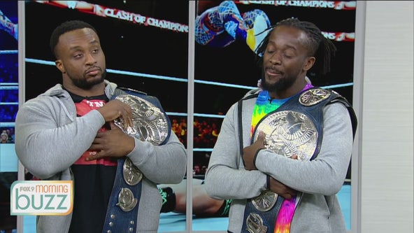 The New Day visits FOX 9 ahead of their WWE's Tables, Ladders and Chairs match at Target Center