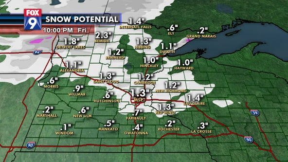Another round of snow expected Friday afternoon