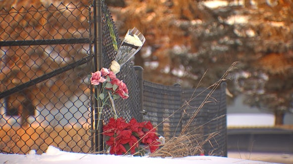 Memorial placed near train tracks where teen boy was killed in Coon Rapids, Minn.