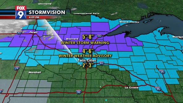 Twin Cities metro, central Minnesota to see snow overnight before colder temps midweek
