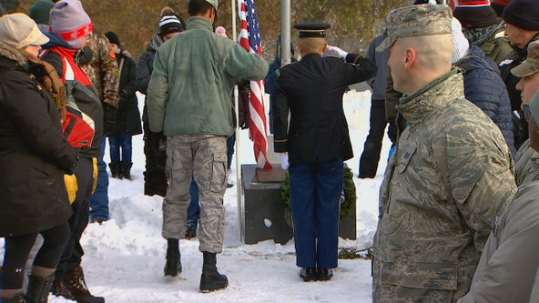 Wreath-laying ceremony at Fort Snelling honors fallen veterans