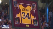 Gophers retire Willie Burton's number 34 jersey