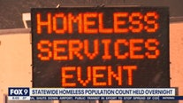 Statewide homeless population count held overnight