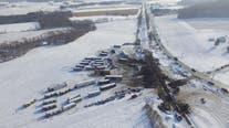 Train derailment closes Highway 12 in western Wisconsin