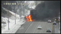 Investigation underway for cause of school bus fire in Maplewood, Minnesota