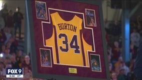 Gophers retire Willie Burton's number 34 jersey