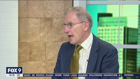 Prof. David Schultz stops by FOX 9 during Impeachment Trial