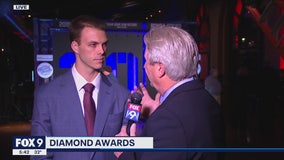 Closer Taylor Rogers speaks with FOX 9 as Twins host Diamond Awards