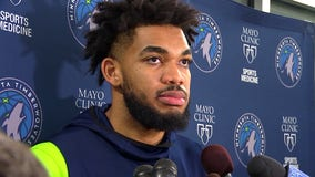 KAT returns to Timberwolves Friday, Okogie helping Daunte Wright family