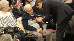 103-year-old World War II veteran awarded 8 medals for valor 75 years after liberation from POW camp