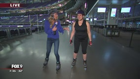 U.S. Bank Stadium opens its doors to skaters & runners
