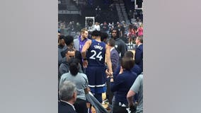 KAT wears number 24 jersey, addresses emotional Target Center crowd to honor Kobe Bryant