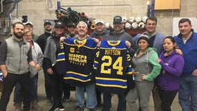 Waseca hockey team wears 'Matson' jerseys to honor injured officer