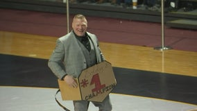 Gophers honor former wrestler, WWE star Brock Lesnar for 20th anniversary of NCAA championship