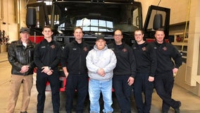 After leaving hospital, man thanks Roseville, Minn. firefighters who helped save his life