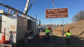 Stretch of I-94 in Minnesota dedicated to 2 MnDOT workers killed in 1968