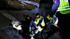 Crews rescue snowboarder who fell from cliff at Interstate State Park in Taylors Falls, Minnesota