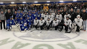 Minnesota Wild surprises peewee hockey teams in Eagan