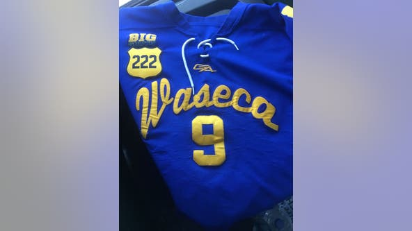 MSHSL approves new Waseca Hockey jerseys featuring patch with Officer Matson's badge number
