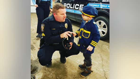 Lexington, Minn. boy battling leukemia spends day with Centennial Lakes police