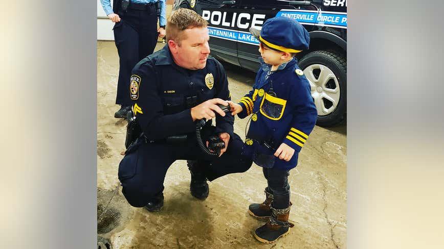 Lexington, Minn. boy battling leukemia spends day with Centennial Lakes police