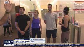 Todd Walker checks out Fight For Air climb at U.S. Bank Plaza