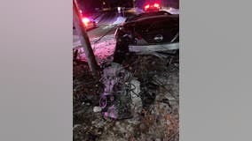Engine ejected from car during crash in Champlin, Minnesota