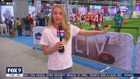 FOX 9's Shayne Wells checks out Super Bowl festivities Saturday, Feb. 1, 2020