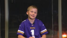 Minnesota boy appears in 'Next 100' commercial, runs onto the field at the Super Bowl