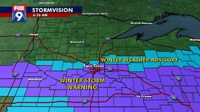 Snow falls in Twin Cities as Winter Storm Warning continues through Sunday