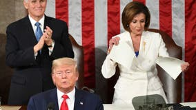 Pelosi rips up text of Trump's State of the Union at conclusion of address