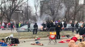 2 in custody after police chase along Chiefs' Super Bowl parade route