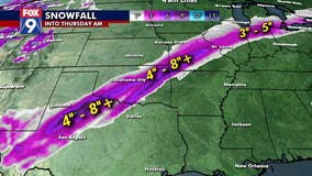 Heavy rain and snow crosses the southern and eastern U.S.