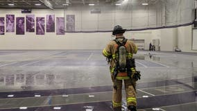 Softball hits sprinkler, causes flooding at University of St. Thomas athletic complex