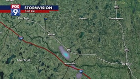 Smoke from Becker, Minnesota fire visible on FOX 9 radar