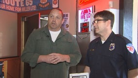 East Bethel, Minn. restaurant recognized for carrying AED device that saved customer's life