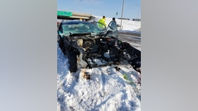 Engine ejected from vehicle during crash on Hwy. 169 in Plymouth, Minnesota