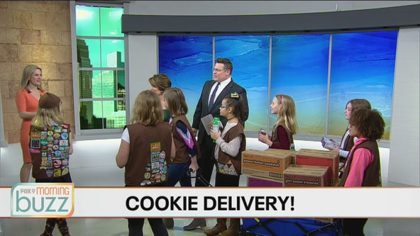 Girl Scouts crash the Morning Buzz to kick off cookie season