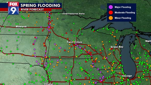 Major spring flooding is likely on many area rivers