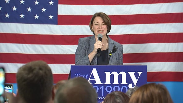 Klobuchar returns home for Minneapolis rally as she trails in Nevada